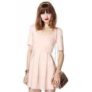Minkpink Fit & Flare Nude Blush Pink A-Line Dress
